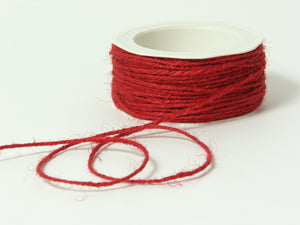 "Jute Burlap Twisted Cord . 1/16"" Red"