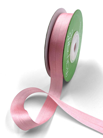"1/2"" Hand Dyed Silk Ribbon with Woven Edge . Rose Quartz Pink Silk Ribbon . 3 yards"