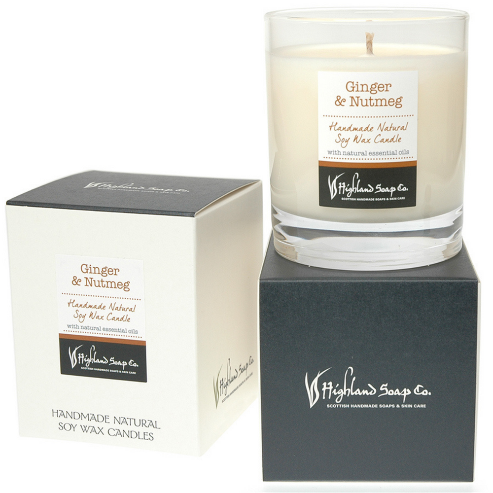 Ginger & Nutmeg Soya Wax Candle
