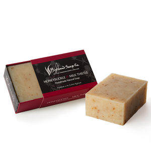 Load image into Gallery viewer, 2 for £9 - Handmade Soap 190g - Honeysuckle Milk & Thistle