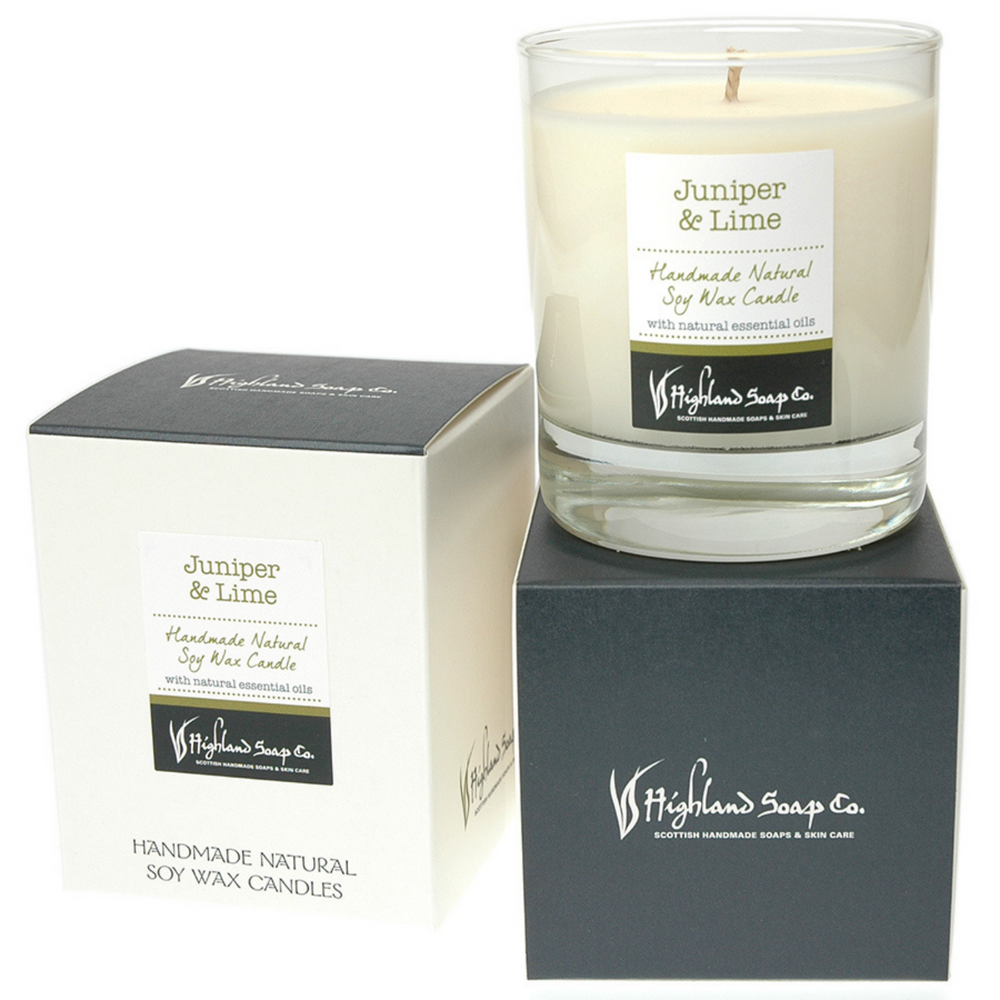 Juniper & Lime Soya Wax Candle