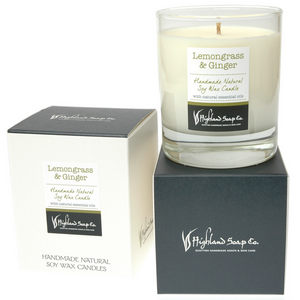 Load image into Gallery viewer, Lemongrass & Ginger Soya Wax Candle