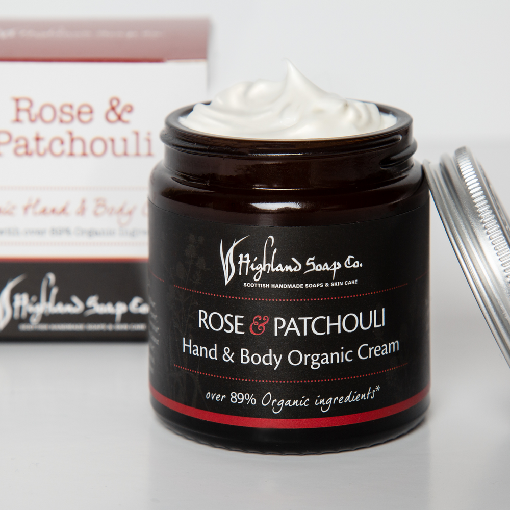 Load image into Gallery viewer, Rose & Patchouli Hand & Body Cream 120ml