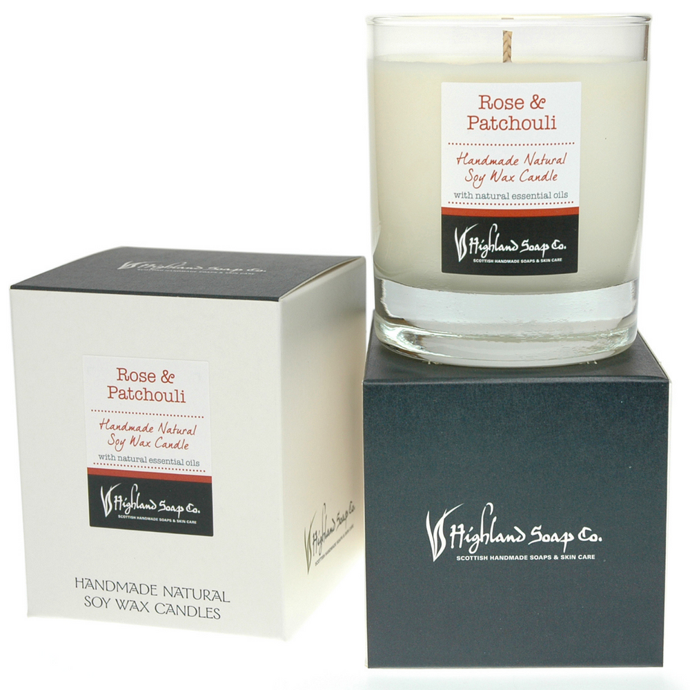 Rose & Patchouli Soya Wax Candle