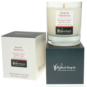 Load image into Gallery viewer, Rose & Patchouli Soya Wax Candle