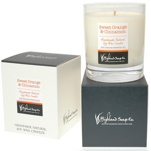 Load image into Gallery viewer, Sweet Orange & Cinnamon Soya Wax Candle