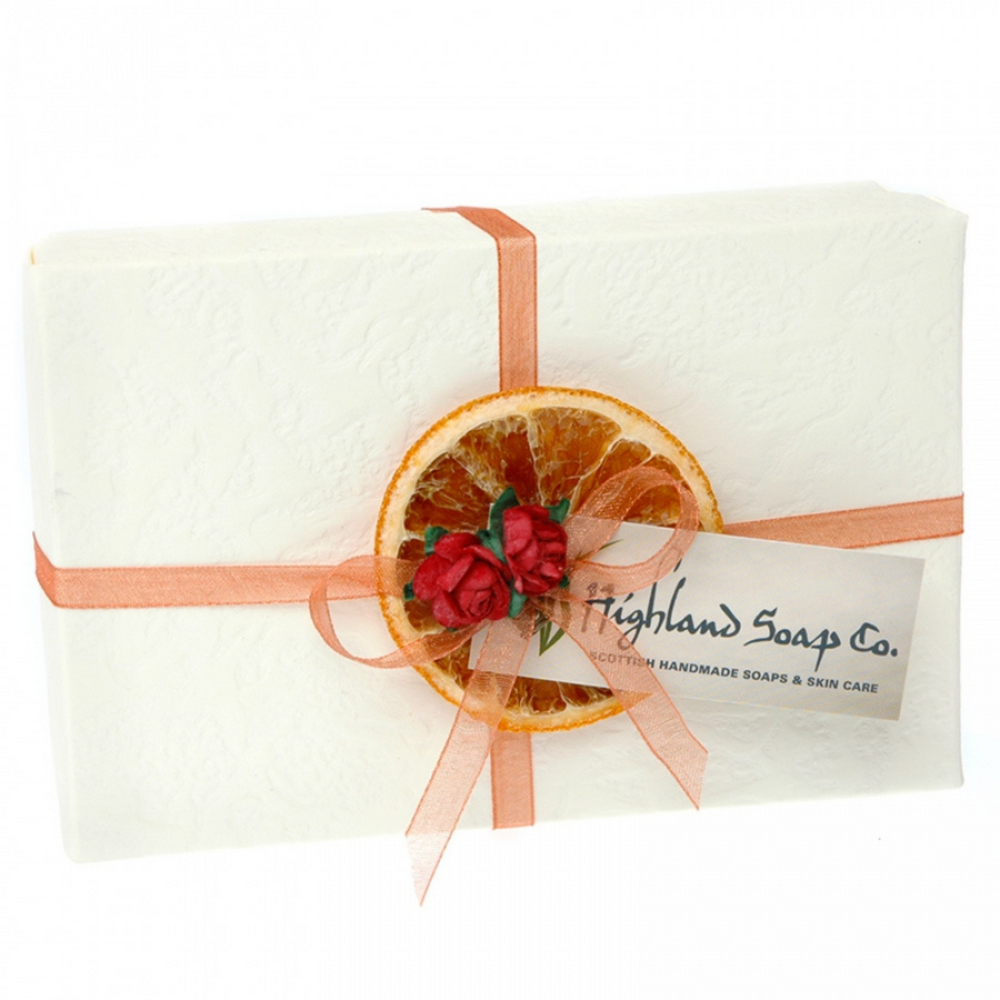 Sweet Orange & Cinnamon Two Soap Gift Box