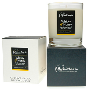 Load image into Gallery viewer, Whisky & Honey Soya Wax Candle