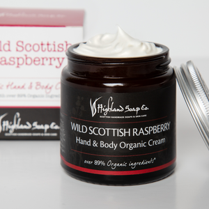 Load image into Gallery viewer, Wild Scottish Raspberry Hand & Body Cream 120ml