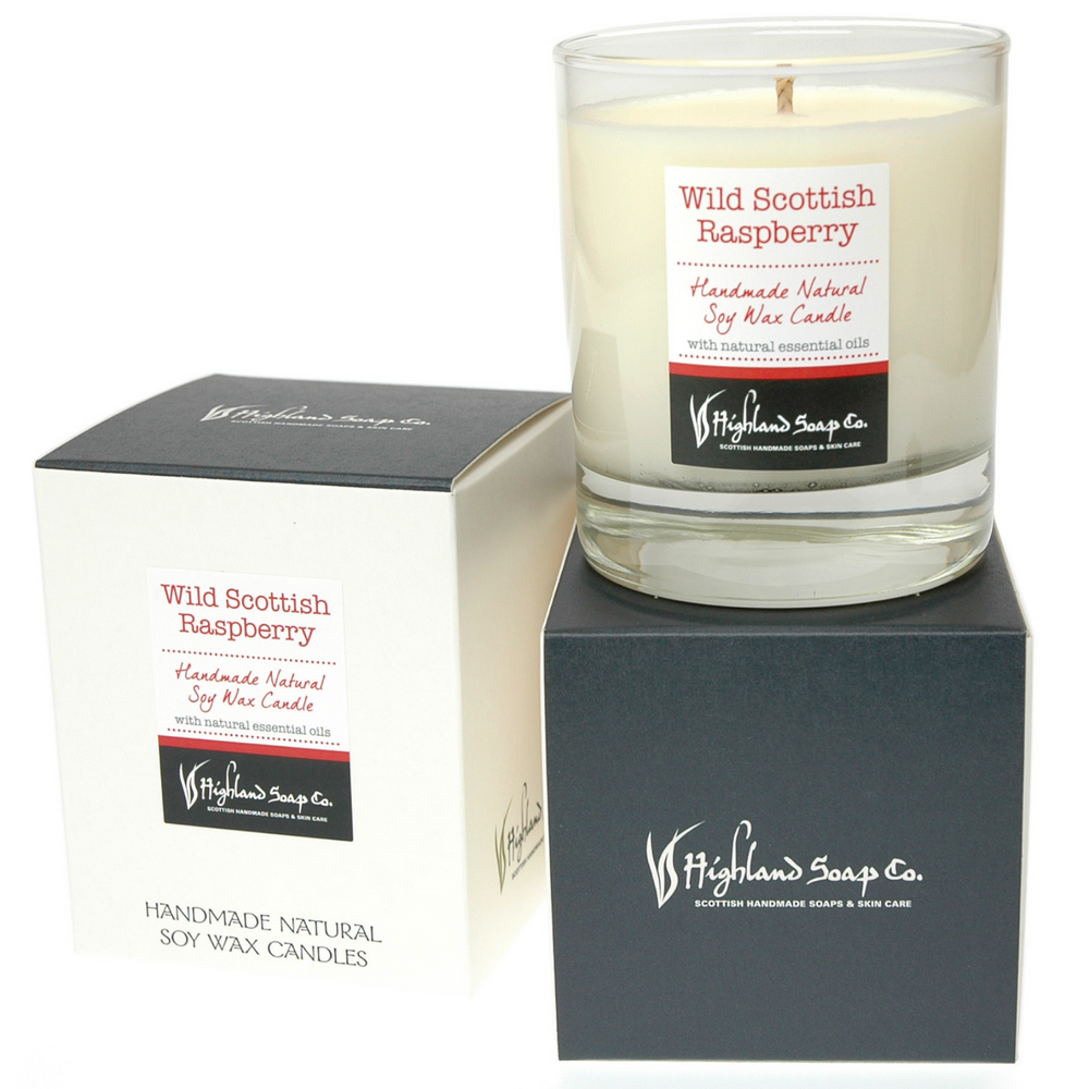 Load image into Gallery viewer, Wild Scottish Raspberry Soya Wax Candle