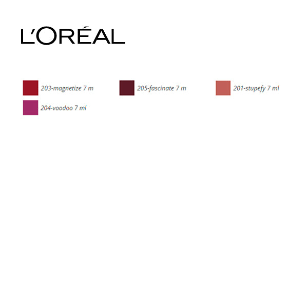Lipgloss Rouge Signature Metallics L'Oreal Make Up (7 ml)