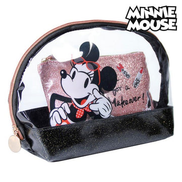 Toalettveske Minnie Mouse Svart (2 pcs)