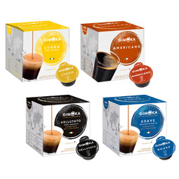 Gimoka Coffee Variety - 64 Nescafe Dolce Gusto compatible coffee capsules thumbnail