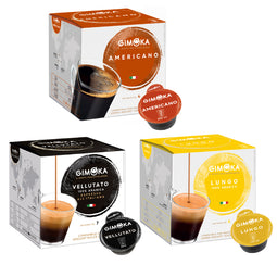 Gimoka Coffee Variety (no Decaffe) - 48 Nescafe Dolce Gusto compatible coffee capsules thumbnail
