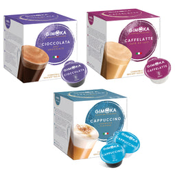 Gimoka Flavour Variety - 48 Nescafe Dolce Gusto compatible coffee capsules thumbnail