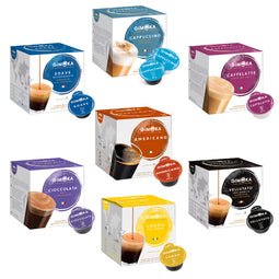Gimoka Full Range Variety - 112 Nescafe Dolce Gusto compatible coffee capsules thumbnail