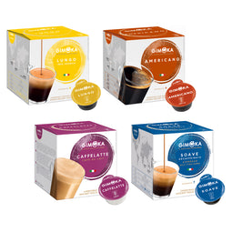 Gimoka All-rounder Variety - 64 Nescafe Dolce Gusto compatible coffee capsules thumbnail