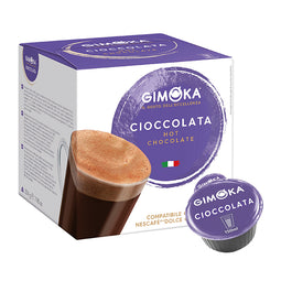 Gimoka Hot Chocolate - 16 Nescafe Dolce Gusto compatible coffee capsules thumbnail