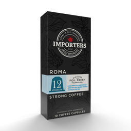 Importers Roma - Nespresso compatible coffee capsules thumbnail