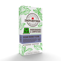 Importers Ocean Friendly Blend – 10 Biodegradable Nespresso compatible coffee capsules thumbnail