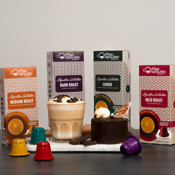 Variety Pack (no Decaffe) - 50 Nespresso compatible coffee capsules