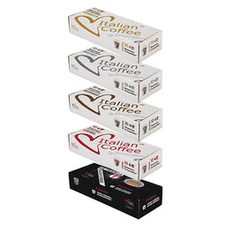 Italian Variety Pack (no Decaffe) - 50 Nespresso compatible coffee capsules thumbnail