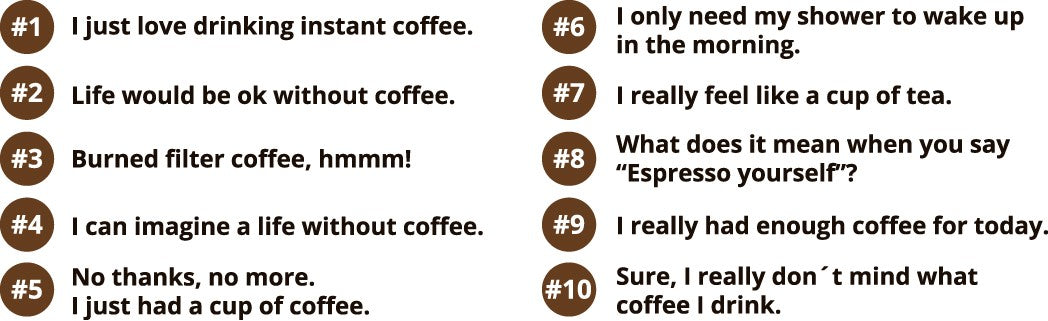 no real coffee lover