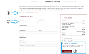 Select Snapscan as payment option