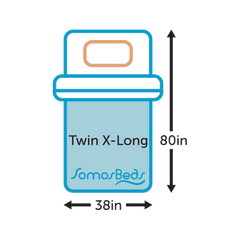 SomosBeds Twin XL Size Icon Sizing Guide