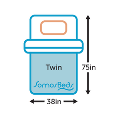 SomosBeds Twin Size Icon Sizing Guide