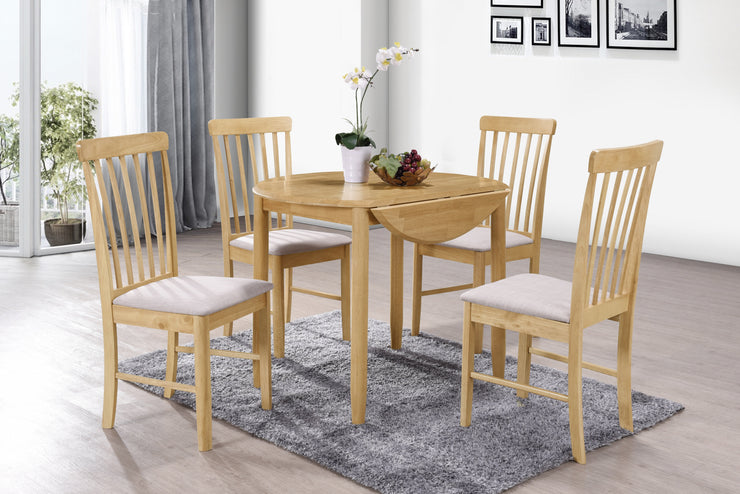 Cologne Round Drop Leaf Dining Set (4 Chairs)