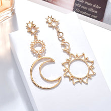 Load image into Gallery viewer, Bohemia Rose Moon Statement  Earrings