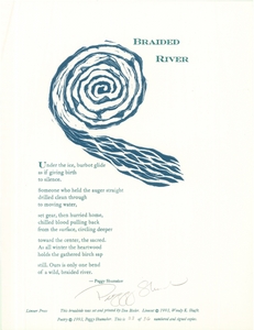 """Braided River"", Peggy Shumaker Broadside"