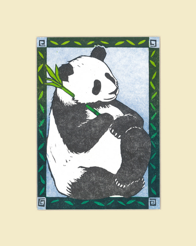 """Panda Nap"" – Wendy Shaft Block Printed Images"
