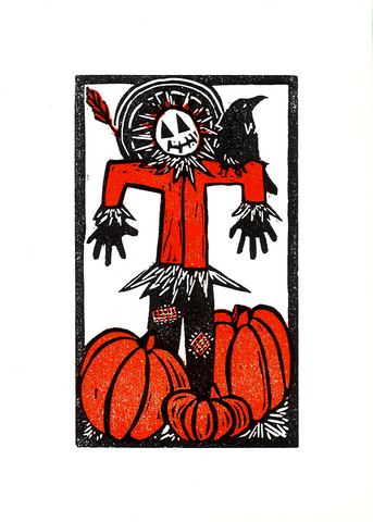 """Scarecrow"" -  Letterpress Printed Card"