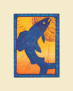 """Sun Grayling"" – Wendy Shaft Block Printed Images"