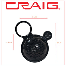 Load image into Gallery viewer, Craig CMA3576 Outdoor Water Resistant Bluetooth Speaker with Belt Clip in Black