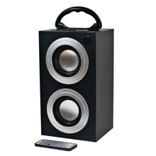 Load image into Gallery viewer, Craig CR4189 Portable Mini Tower Speaker with FM Radio and USB/SD Slot in Black