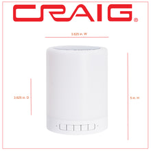 Load image into Gallery viewer, Craig CMA3609 Portable Speaker with LED Light Lantern in White