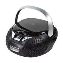 Load image into Gallery viewer, Craig CD6925 Portable Top-Loading Stereo CD Boombox with AM/FM Radio in Black
