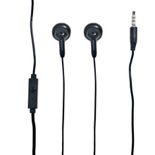 Load image into Gallery viewer, Magnavox MHP4820M-BK Gummy Earbuds with Microphone in Black