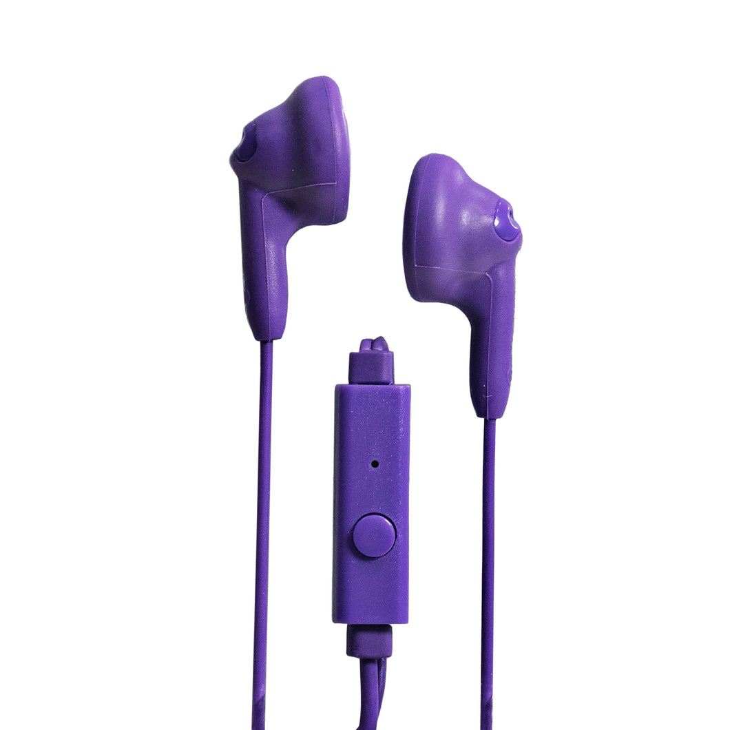 Magnavox MHP4820M-PL Gummy Earbuds with Microphone in Purple