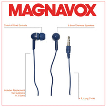 Load image into Gallery viewer, Magnavox MHP4850-BL Ear Buds in Blue
