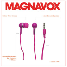 Load image into Gallery viewer, Magnavox MHP4850-PK Ear Buds in Pink