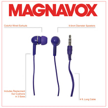 Load image into Gallery viewer, Magnavox MHP4850-PL Ear Buds in Purple