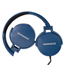 Load image into Gallery viewer, Magnavox MHP5026M-BL Stereo Headphones with Microphone in Blue