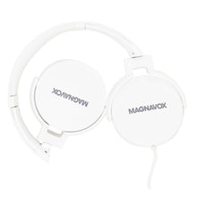 Load image into Gallery viewer, Magnavox MHP5026M-WH Stereo Headphones with Microphone in White