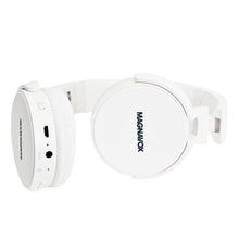 Load image into Gallery viewer, Magnavox MBH542-WH Bluetooth Wireless Foldable Stereo Headphones in White