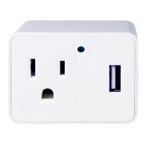 Craig CC3115 USB Outlet Adapter with USB with Extra Outlet in White