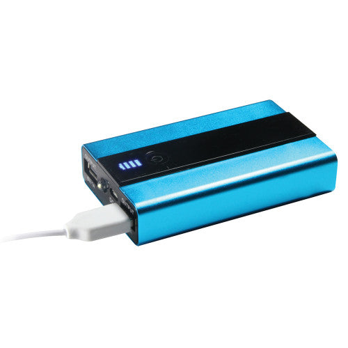 Craig CMA3120 6600 mAh Portable Powerbank with Dual USB Charging Ports in Blue and Black